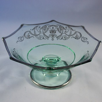 Sterling Silver Overlay Compote Identification Help - Glassware