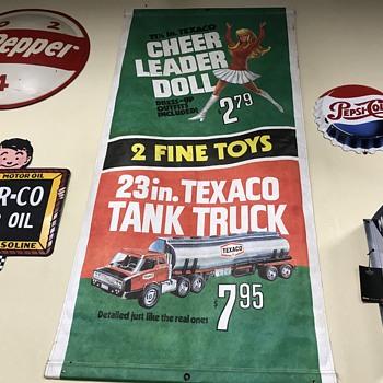 Texaco paper sales banner 1960s  - Petroliana
