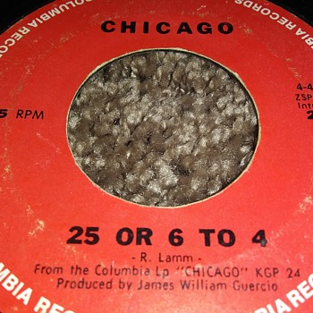 Chicago...On 45 RPM Vinyl - Records