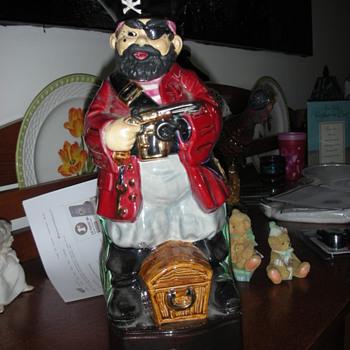 vintage pirate captain rum decanter - Bottles
