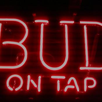 """Vintage Budweiser """"Bud on Tap"""" Sign"""