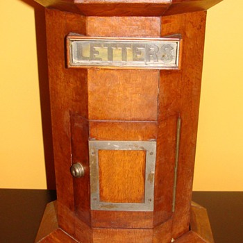 Antique Wooden Hexagon Shaped Mailbox - Office