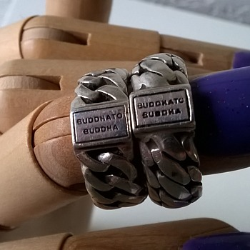 BUDDHATOBUDDHA Sterling Chain Rings, Job Lot Buy