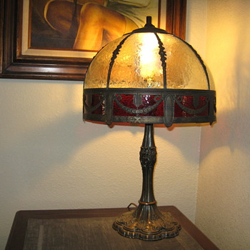 Unknown lamp/would like to know maker , age, and value. Thanks in advance. - Lamps