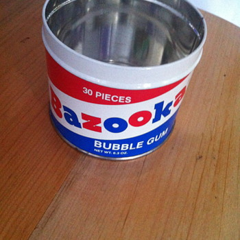 Bazooka bubble gum tin. Made in 1993. - Advertising