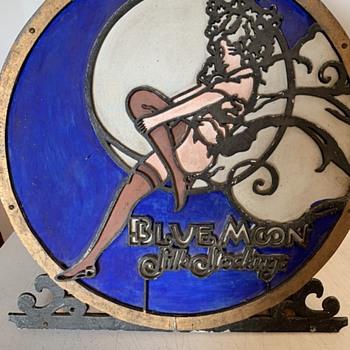 Blue Moon Silk Stocking Vintage Lamp - Advertising