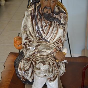 Chinese Mudman Warrior Statue