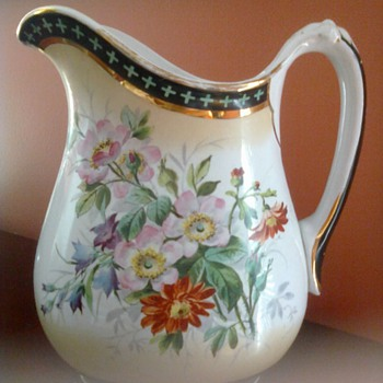 English Water Pitcher - China and Dinnerware