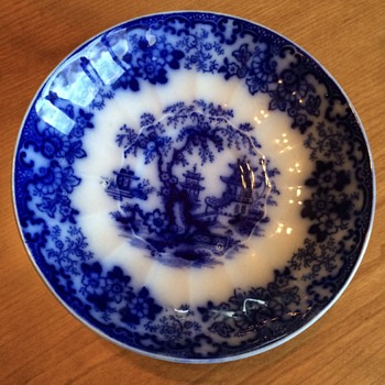 Blue Flow Saucer:  Marking? - China and Dinnerware