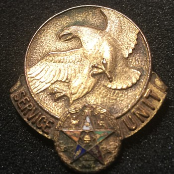 Order Of The Eastern Star Service Unit Pin