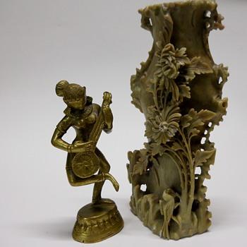 Antique Chinese Stone Vase - Asian