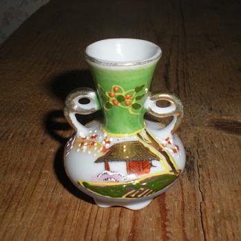 """Japanese miniature porcelain vase marked """"made in Japan"""". - China and Dinnerware"""