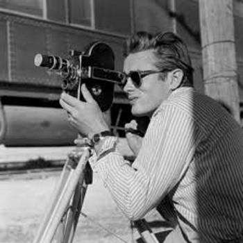 James Dean by Sid Avery on the set of GIANT  photos signed by Avery