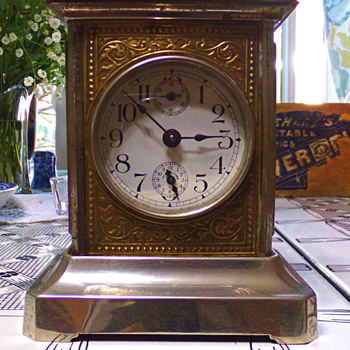Antique German Musical Alarm Carriage Clock - Clocks