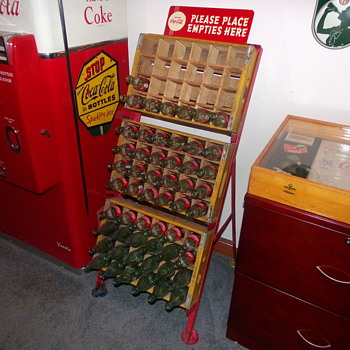 1950's Coca-Cola Empties Rack - Coca-Cola
