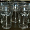 (5) 1950's to 1960's DRINK Coca'Cola/ENJOY Coca'Cola Logo Fountain Glasses ~ H T White Star Libbey