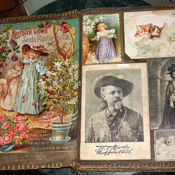 Beautiful Victorian Scrapbook on Muslin from Oakland, California ~1903 - Paper
