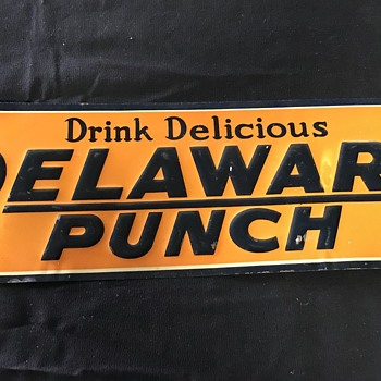 Delaware Punch sign 1940's  - Signs