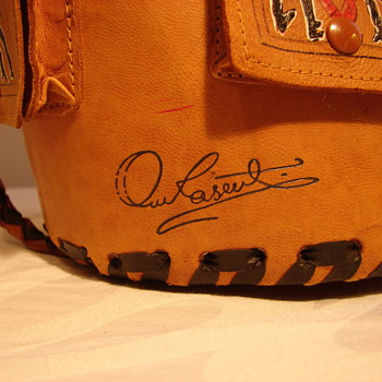 Hand Tooled and Painted Leather Bag Signed