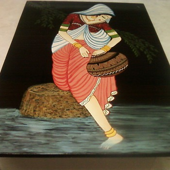 WADING LADY PAINTING - Asian