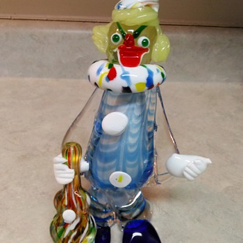 LARGE GLASS CLOWN - Art Glass