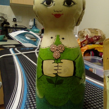 Gemma taccogna ,Fred sexton paper mache doll.bought for 20p at a summer fair
