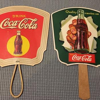 1930's & 50's Paper Coke Fans - Coca-Cola
