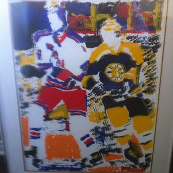 Hockey Paintings - Hockey