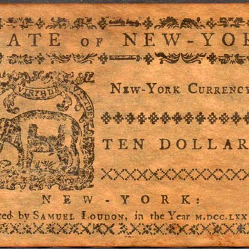 Colonial Currency - Novelty Note (New York) - US Paper Money