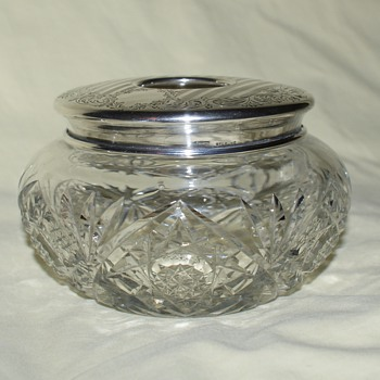 Birks Sterling and Crystal Dresser Jars - Silver