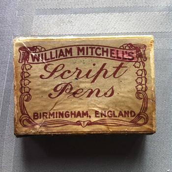William Michell's Script Pens and box