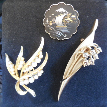 Some Thrift Store Brooch Finds One Is Trifari - Costume Jewelry