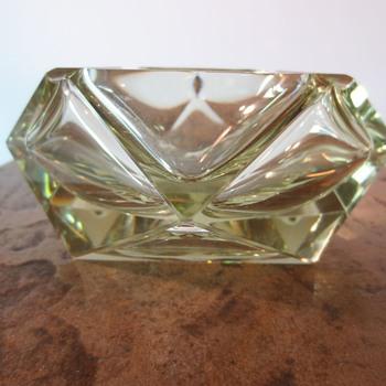Clear Glass Ashtray - Art Glass