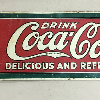 1915 Coke Bottle Sign - Coca-Cola