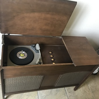 General Electric Record Player Cabinet  - Electronics