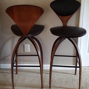 Midcentury modern bar stool pair - Furniture