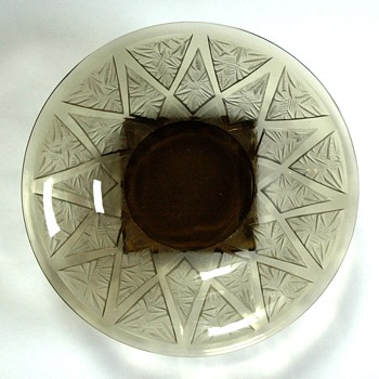 french art deco acid etched  charger by VERLYS