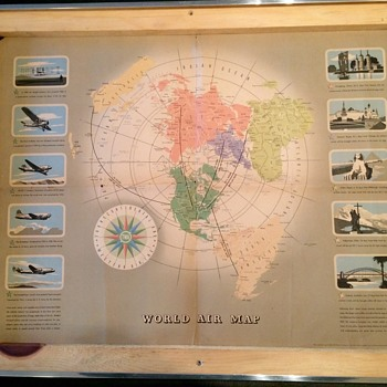 TWA world Route Map 1943 - Posters and Prints