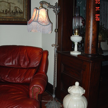 Antique Floor Bridge Lamp - Lamps