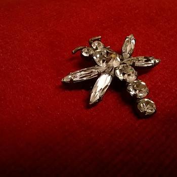Butterfly Brooch - Flea Market Find - Costume Jewelry