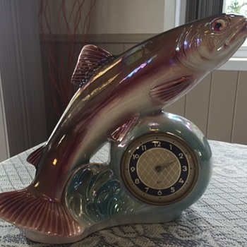 Jema Holland Large Trout Fish Clock (471)