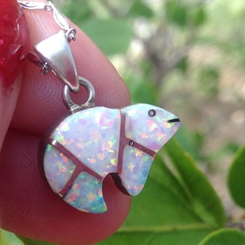 Vintage Silver Opal  Bear?  - Fine Jewelry