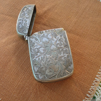 A sterling English match holder  - Silver