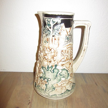Simon Peter Gerz German Stein Pitcher marked  1493b Depose - Pottery