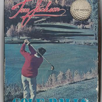 The Tom Jackson Turf Master Signature Golf Ball, circa 1965