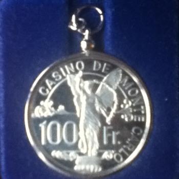Monte Carlo Casino 100-Franc Silver Chip - US Coins