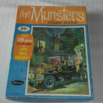 1960's Munsters Puzzle !! 100% complete - Games