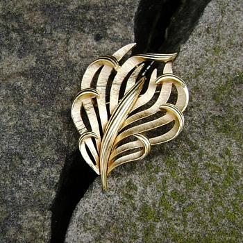 Trifari Calla Lily Brooch - Costume Jewelry