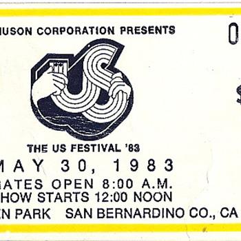 The Us Festival Ticket Stub
