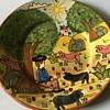 Vintage terracotta plate